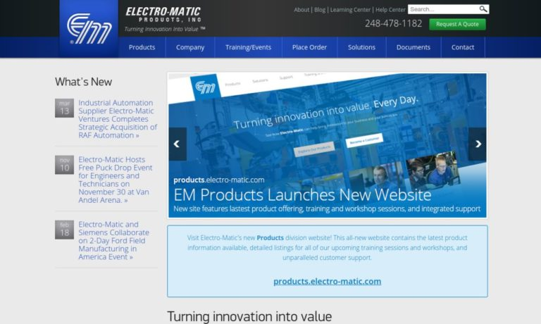 Electro-Matic Products, Inc.